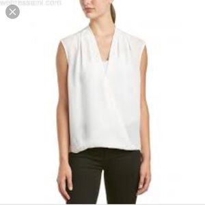 Rebecca Taylor Cream silk sleeveless blouse